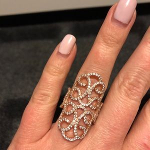 Jewelry - Rose gold and CZ ring